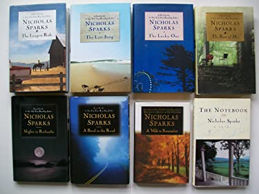 Nicholas Sparks (8 Set) Longest Ride; Last Song; Lucky One; Best of Me; Walk to Remember; Notebook...