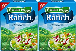 Hidden Valley Original Ranch Seasoning and Salad Dressing Mix, Eight 1 Ounce Packets (8 Packets Total)