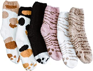 Fuzzy Socks for Women - Warm Slipper Socks, Super Soft &...