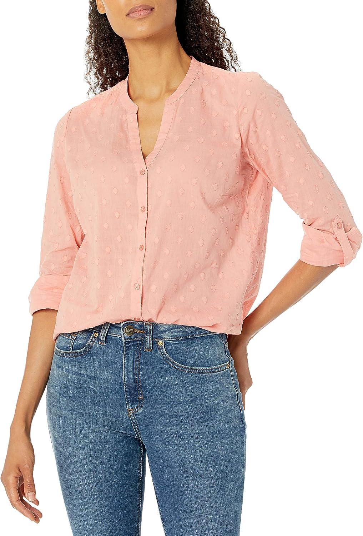 Erika Women's Carleigh Roll Tab Sleeve Button Down Shirt