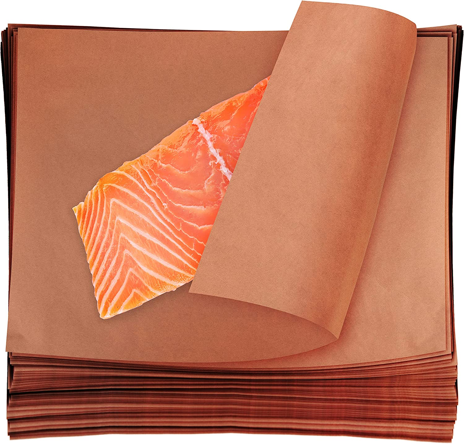 Stock Your Home 24 x 17 Butcher Paper Sheets (100 Pack) - Pre-Cut Pink Butcher Squares - Food Grade Peach Smoking Paper for Barbecuing, Brisket Smoking, Wrapping, & Storing Meats