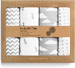 BaeBae Goods Muslin Swaddle Blankets   Grey Clouds