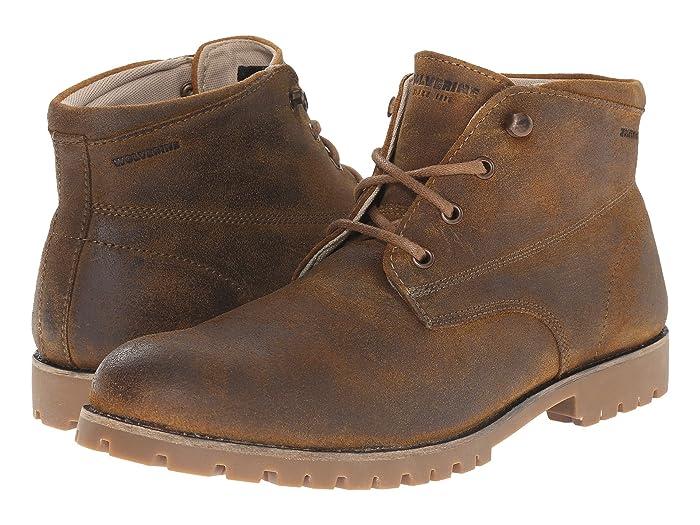 Wolverine Cort Brown Leather Waterproof Chukka Boots UK Sizes 7-12