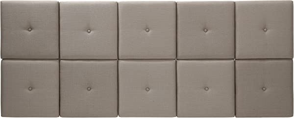 Foremost THT 61013 FB TAU KNG 77 5 31 Inch Fabric With Tuft Headboard Tiles King Taupe