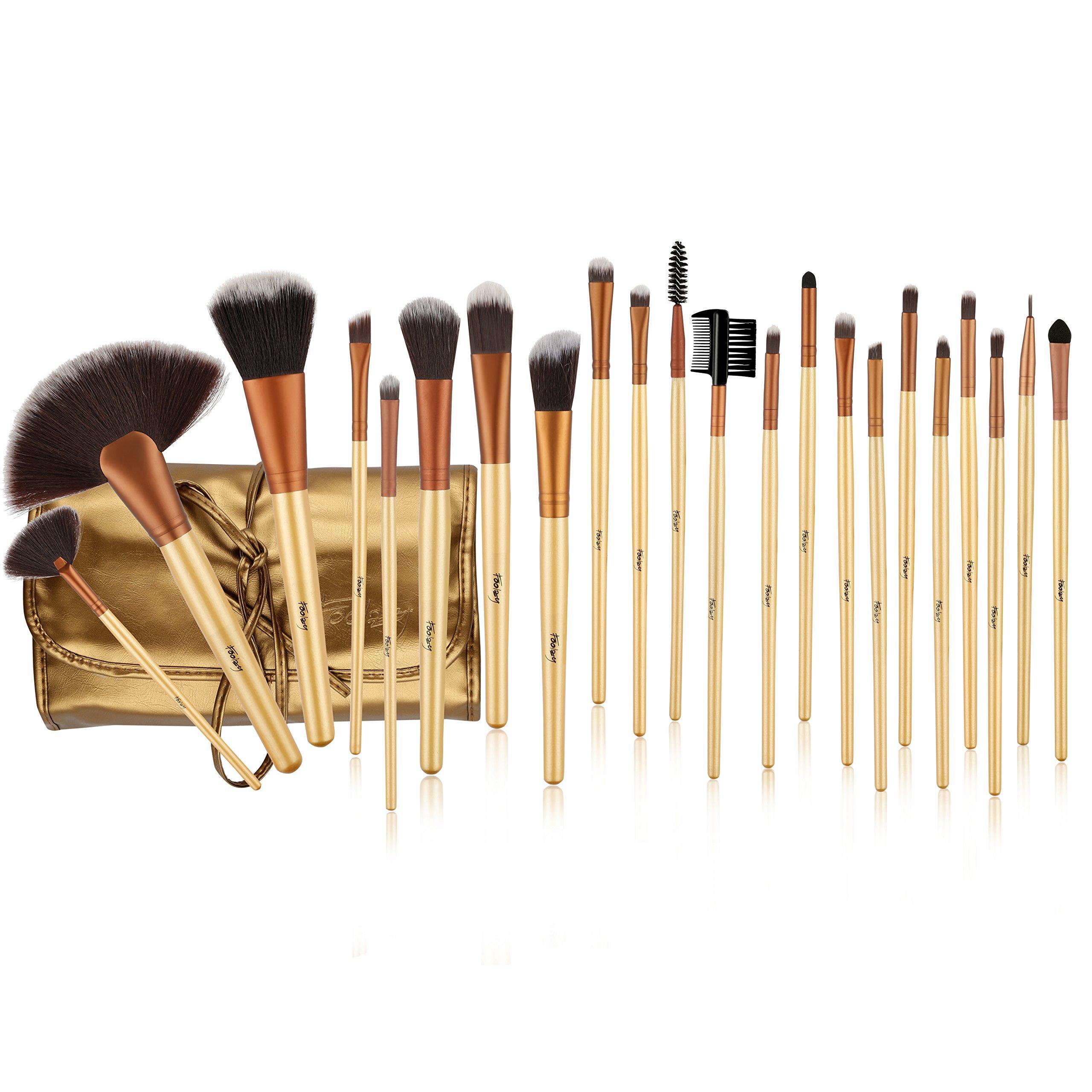 Foolzy Brush Book ! Makeup Brush Collection (24 Pcs Gold)