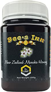 Bee's Inn Manuka Honey UMF 5+, 500g (1.1 lbs), UMF Certified, Pure Natural Raw Manuka Honey from New Zealand.