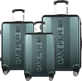 Daniel Klein Lightweight Travel case 50x32x78 Spinner Luggage Set ABS + PC with TSA Lock (Dark Green)