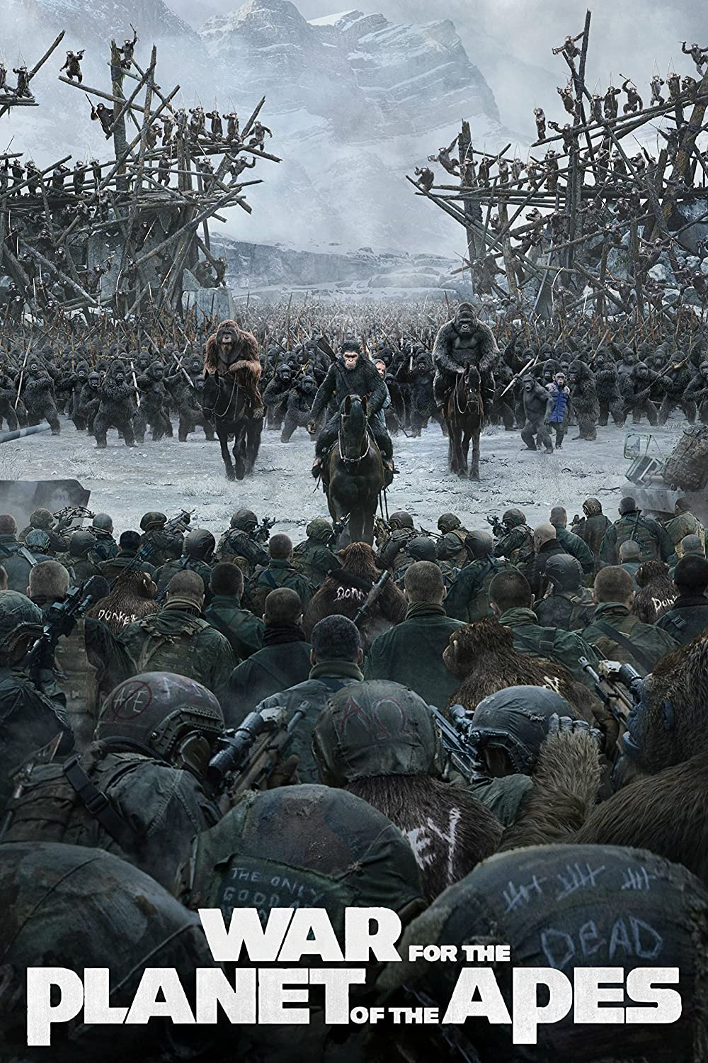 Black Creations War for the Planet of the Apes 3 Movie Poster Canvas Picture Art Print Premium Quality A0 A1 A2 A3 A4 (A0 Canvas (30 40))