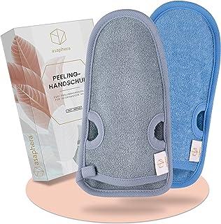 asaphera │Peelinghandschoenen – peeling handschoenen met duimgaten – 2 hardheidsgraden (soft & medium) – peelinghandschoen...