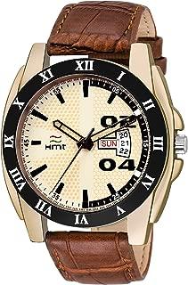 Hemt Analog Off-White Dial Men's Watch-HM-GR097-WHT-BRW