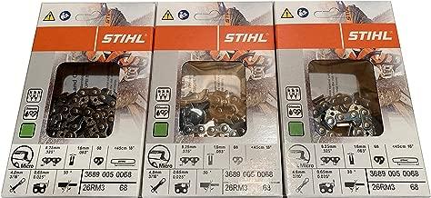 Stihl 26RM3-68 (3 Pack) Oilomatic Rapid Micro Chainsaw Chain 18