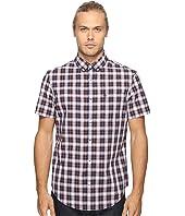 Original Penguin - Short Sleeve Slub P55 Plaid Woven Shirt