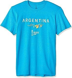 FIFA Officially Licensed Argentina Men's Tee, Turquoise Heather, Medium