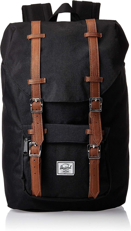 Herschel favorite Little America Laptop Backpack Black Lea Ranking TOP17 Synthetic Tan