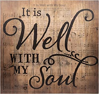 P. Graham Dunn It is Well with My Soul Sheet Music Design 24 x 25 Wood Pallet Wall Art Sign Plaque