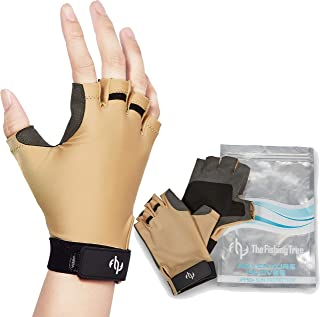 Fingerless Gloves for Kayak, Fishing, Paddling, Sailing, Rowing, Hiking, Wakeboarding, Certified UPF 50+ UV Sun Protection, Men and Women Half Finger Glove UV Sun Block, Chemical Free, Machine Wash