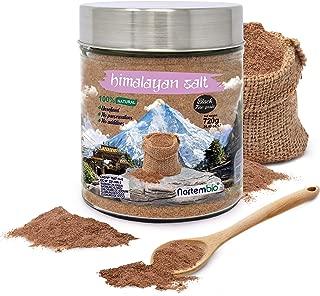 Nortembio Sal Negra del Himalaya 720 g. Extrafina (0,5-1 mm). 100% Naturales. Sin Refinar. Sin Conservantes. Extraídas a Mano