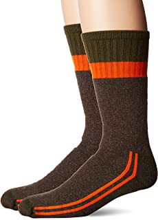 Men's Cotton Work Gear Crew Socks   Cushioned, Wicking, Durable   2 Pack