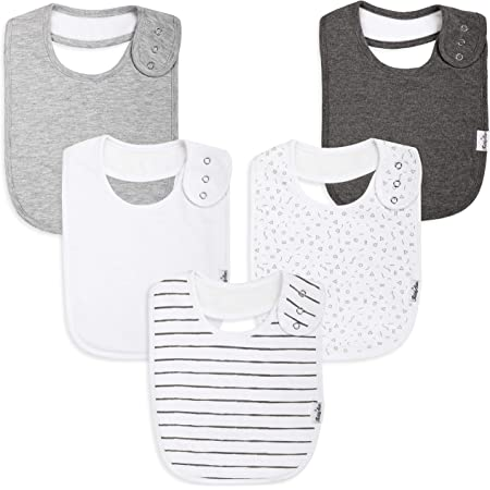 5pcs Baby Bibs 100/% muslin Cotton Face Washer Feeding Kid Toddler Unisex AU011