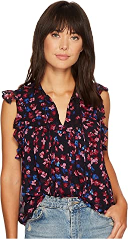 Lucky Brand - Ruffle Floral Top