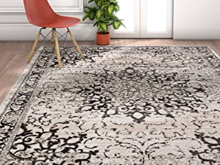 Well Woven Amba Sultana Traditional Distressed Oriental Grey Area Rug 5'3