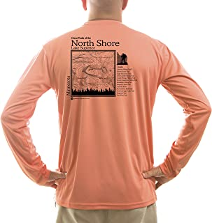 American Backcountry Men's North Shore Lake Superior UPF 50+ Long Sleeve T-Shirt
