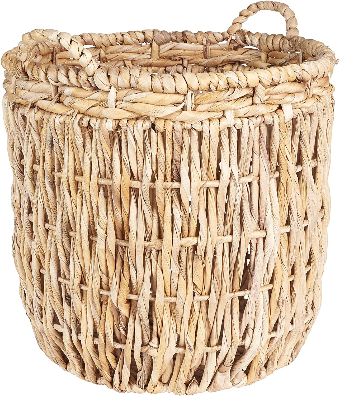 Household Essentials Brown Tall Wicker Basket Round Storage Japan Maker New Tampa Mall