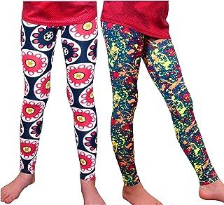 Syleia Girl Leggings High Rise Bright Patterns