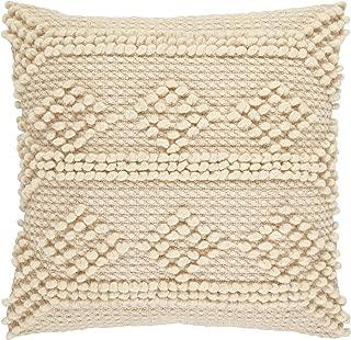 Stone & Beam Modern Textured Throw Pillow - 18 x 18 Inch, Ivory
