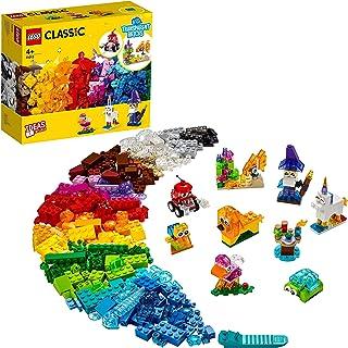 LEGO Classic Yaratıcı Şeffaf Yapım Parçaları 11013 - Çocuklar için Yaratıcı Oyuncak Yapım Seti (500 Parça)