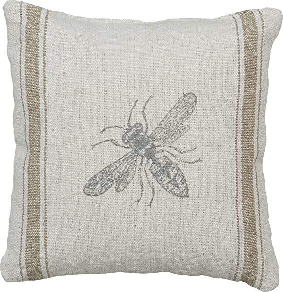 Primitives By Kathy Distressed Throw Pillow 10 X 10 Inches Bumblebee
