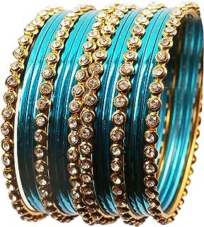 dark blue silk thread bangles