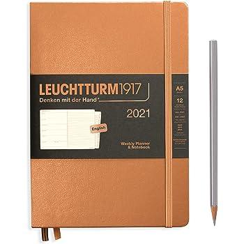 A5 Medium Wochenkalender Softcover Deutsch LEUCHTTURM1917 362019 Puder 2021
