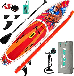 FEATH-R-LITE Inflatable Stand Up Paddle Board 10'5''/ 11'6'' Ultra-Light SUP with Inflatable Paddleboard Accessories,Fins,...