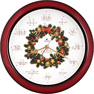 christmas wreath clock