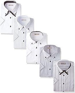 [ドレスコード101] ワイシャツ ビジネスシーンにぴったり 半袖シャツ 5枚セット 形態安定 クールビズ メンズ