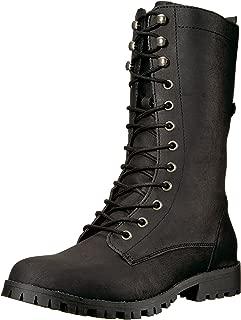 Sugar Women's Tegan Lace-Up Mid-Calf Combat Boot