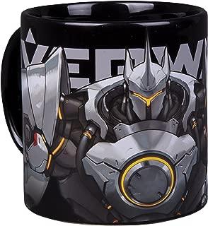Overwatch Reinhardt Ceramic Coffee Mug, 20 oz - Wrap around Design with Reinhart and Hammer