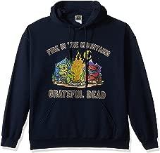Liquid Blue Men's Plus Size Grateful Dead Fire in The Mountain Dancing Bears Pullover Hooded Sweatshirt
