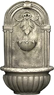The Theodora Outdoor Wall Fountain - Parchment - Water Feature for Garden, Patio and Landscape Enhancement HF-W009-P