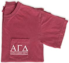 Alpha Gamma Delta Block Letters Pocket T-Shirt