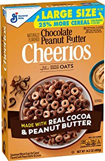 Chocolate Peanut Butter Cheerios, Cereal, 14.2 oz Box