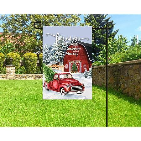 Christmas Memorial Flag In Memory Flag Holiday Garden Flag Christmas Cemetery Decoration 12 X 18 Garden Outdoor