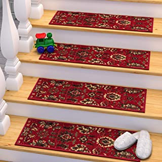 Ottomanson Stair Tread, 13 Pack, Red