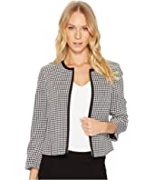 Tahari by ASL - Gingham Open Front Jacket