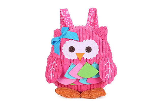 46495bfa3534 Toddler Mini Backpack for Girls Boys Cute 3D Animal Cartoon Children  Preschool Backpack Pink Owl Plush Bag for Kids