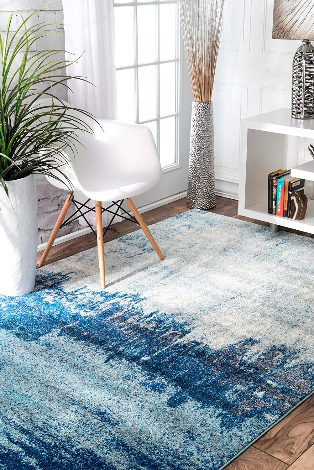 nuLOOM Alayna Import Abstract Ranking TOP10 Area Round Rug Blue 5'