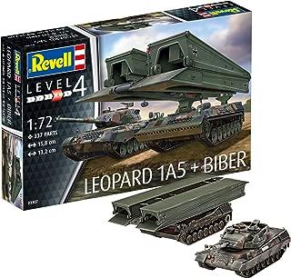 Revell- Maqueta de Tanque, Combate Leopard 1A5 y el lanzapuentes blindado Biber. Kit Modelo, Escala 1:72 (03307)