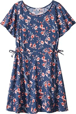 Floral Print Ruffle Dress (Big Kids)