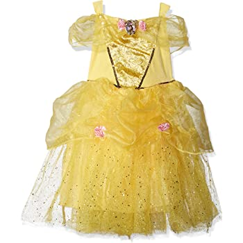 Amazon Com Belle Deluxe Disney Princess Beauty The Beast Costume X Small 3t 4t Clothing